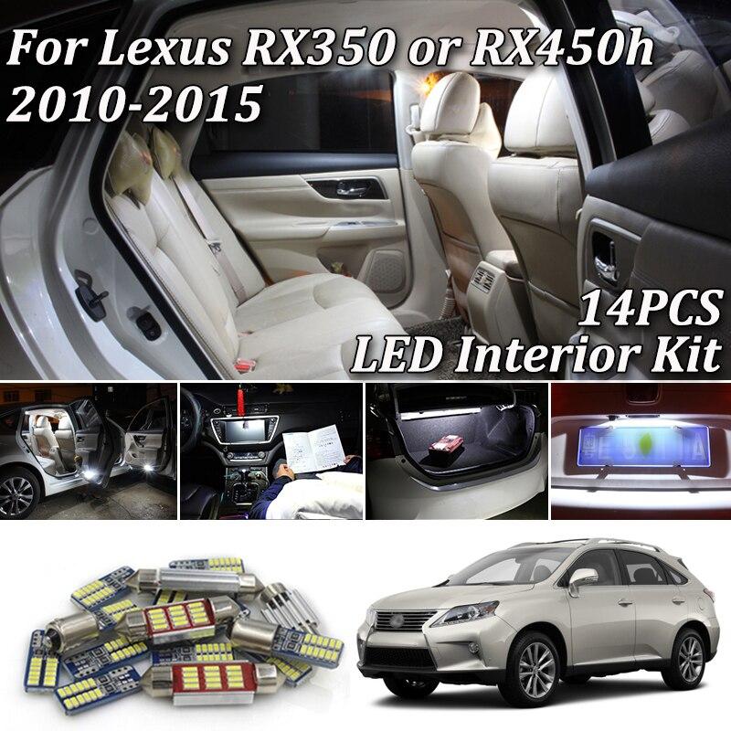 11x Xenon White LED Lights Interior Package Kit For 2013-2015 2016 LEXUS ES350