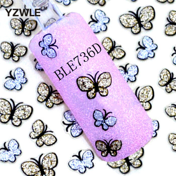 ZKO 3D Butterfly & LOVE Nail Art Shinning Stickers DIY Nail Sticker Nail Art Accessories Nail Art Water Decals Transfer Sticker