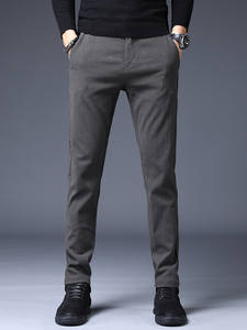 Men Trousers Clothing Business-Pants Black Winter Straight Casual Gray Brand New Classic