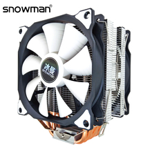 SNOWMAN CPU Cooler 6 Heat Pipes 120mm 4 Pin PWM RGB for Intel LGA 1200 1150 1151 1155 2011 AMD AM4 AM3 CPU Cooling Fan PC Quiet