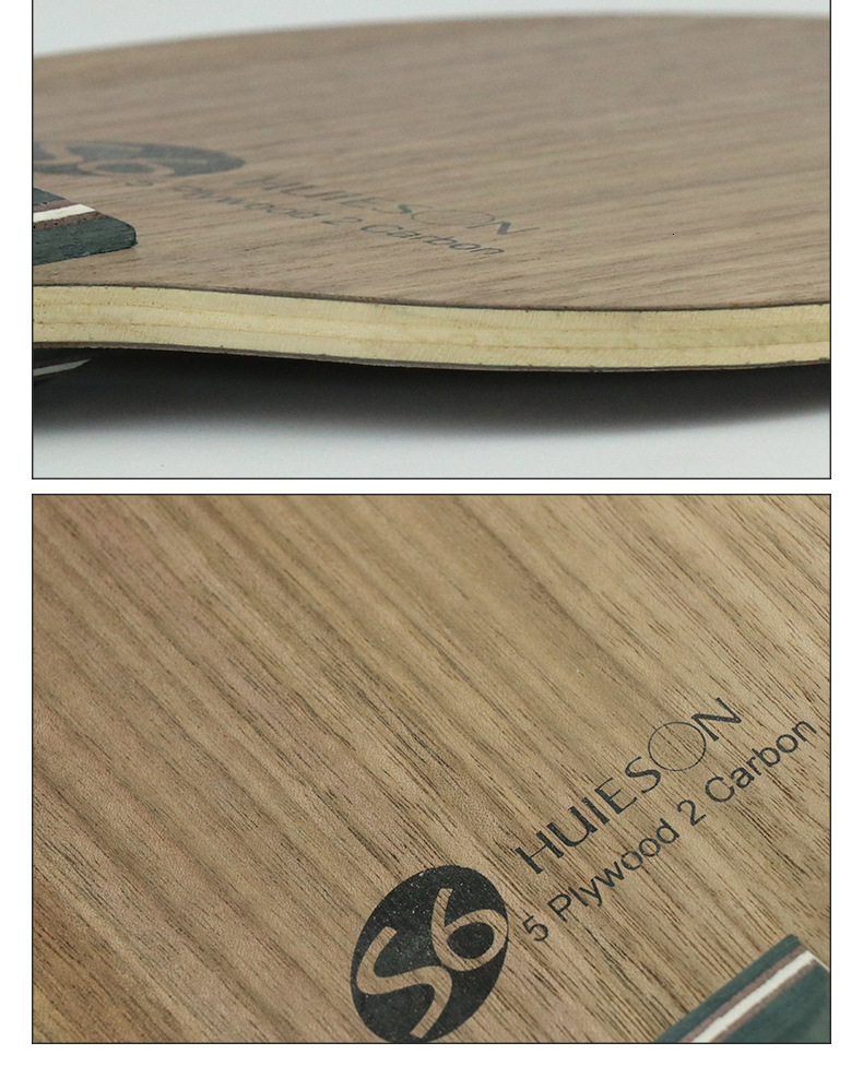 Super Quality Table Tennis Racket Blade Walnut Ayous 5 Plywood 2 Ply Carbon Ping Pong Blade for Senior Players S6 (7)