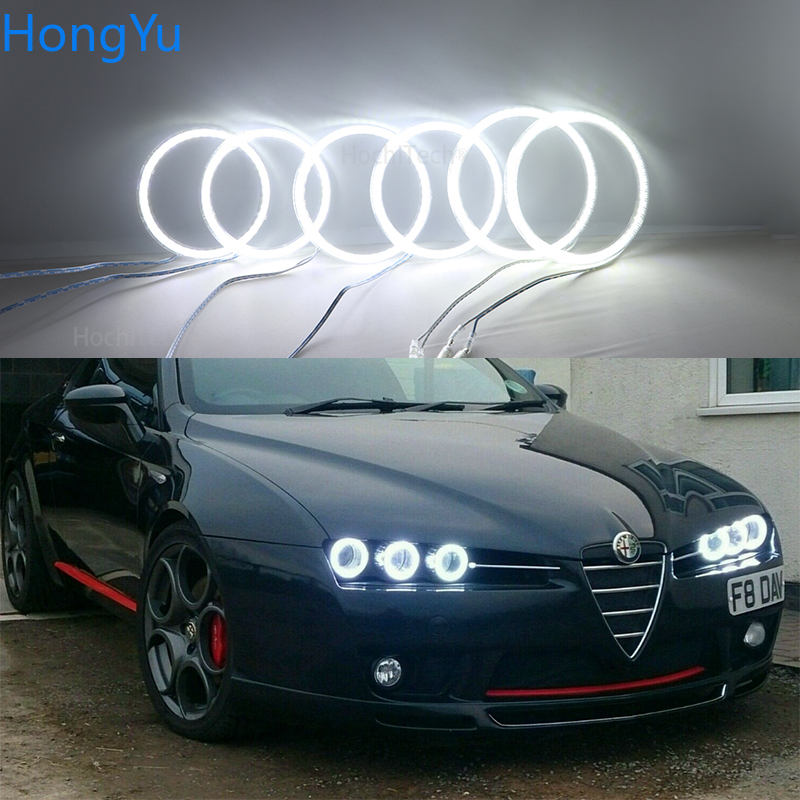 For Alfa Romeo 159 2005-2011 Smd Led Angel Eyes kit Excellent Ultra bright illumination DRL Car Styling Daytime running lights