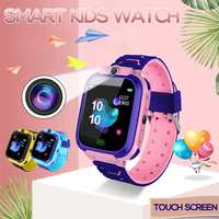 2019 New LBS Kid Smartwatches Touch Screen Anti-lost Base Station Location SOS Call Sim Card Alarm Remote Camera Smart Watches
