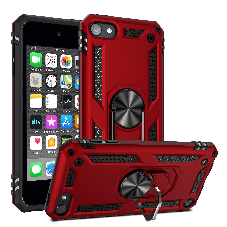Screen Guard iPod Touch 5th 6th Gen Rubber IMPACT TUFF HYBRID KICK STAND Case