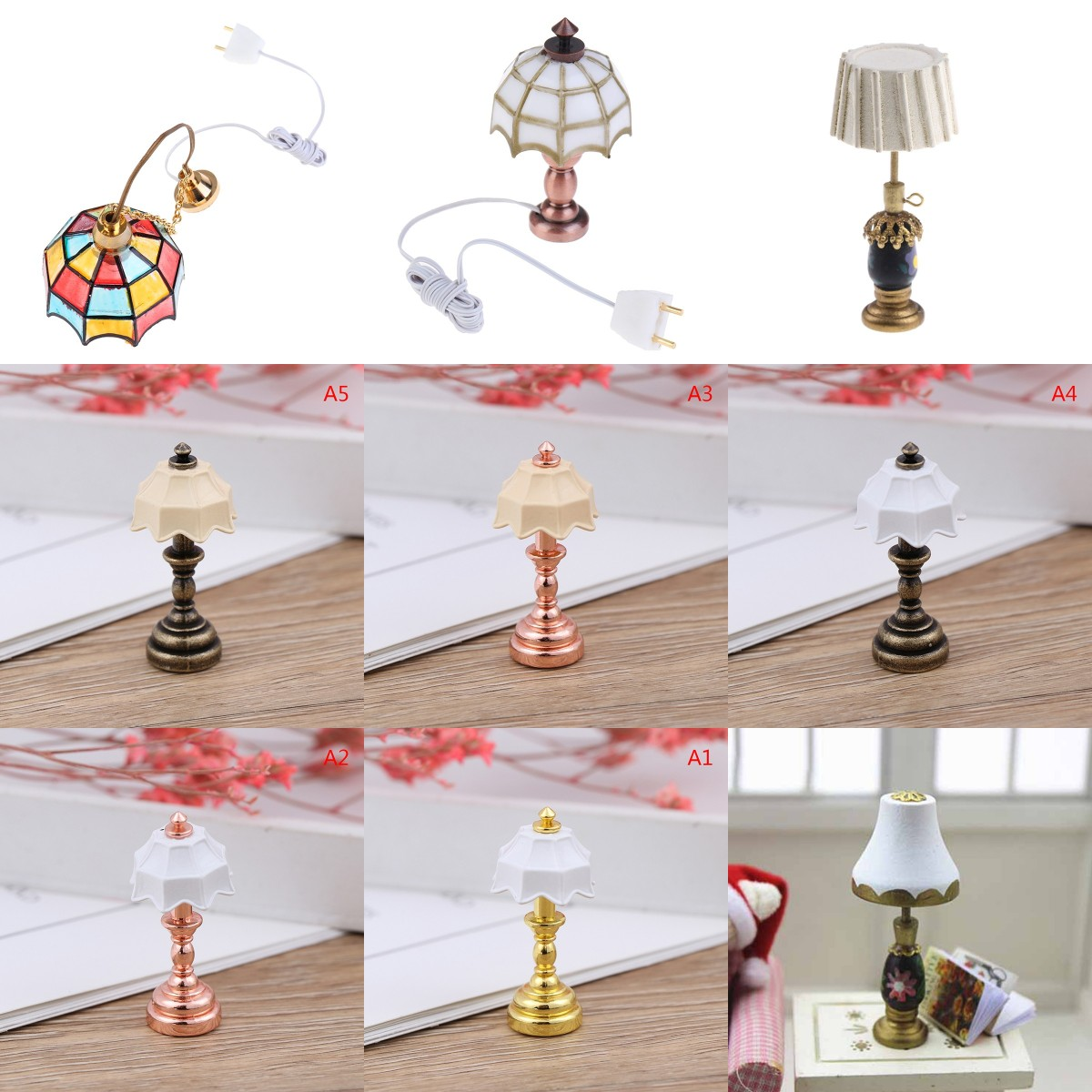 1:12 Retro Öllampe Puppenhaus Miniatur Spielzeug Puppe Home Wohnzimmer DekorR WS