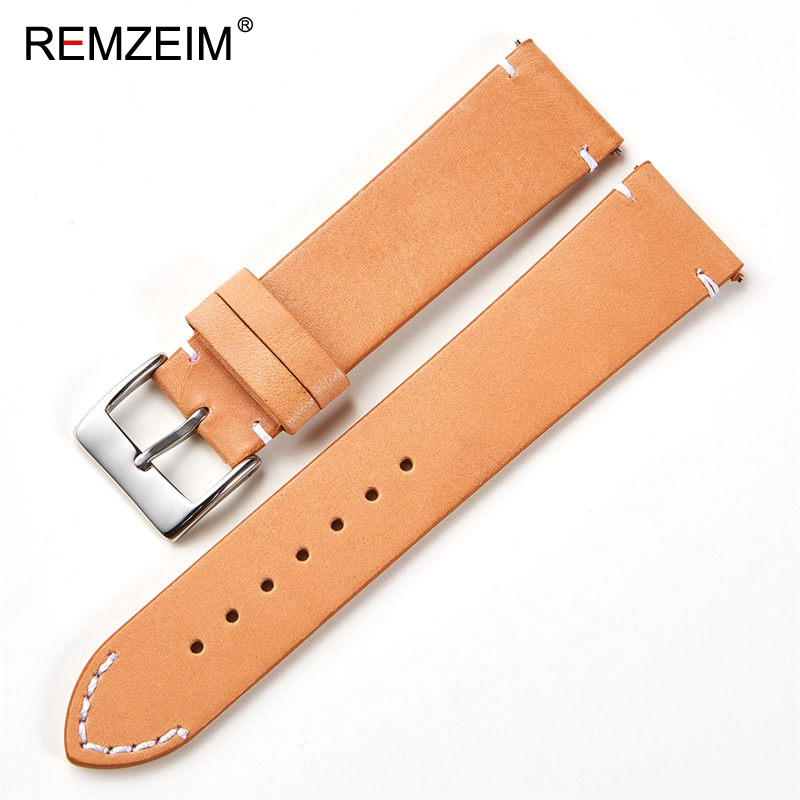 Calfskin Leather Watchband Quick Release Watch Band Wrist Strap 18mm 20mm 22mm 24mm Smart Watch Strap Watches Accessories