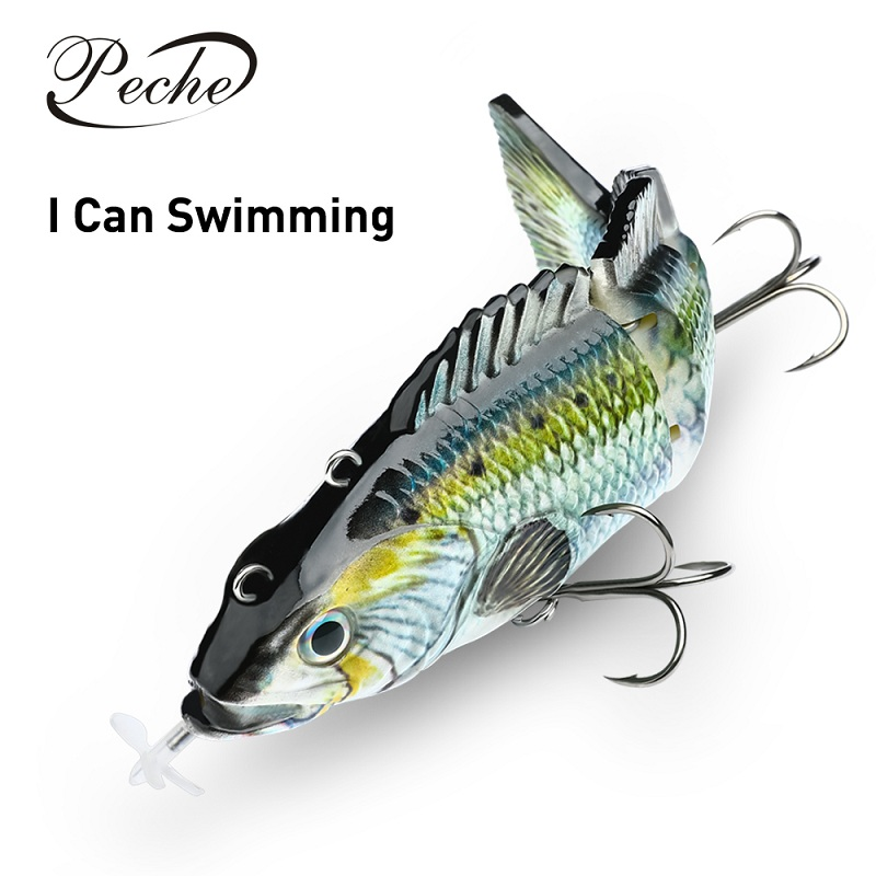 Fishing Lures Hard-Bait Electric-Lure Swimbait Pesca Wobblers Minnow Auto-Jointed Artificial title=