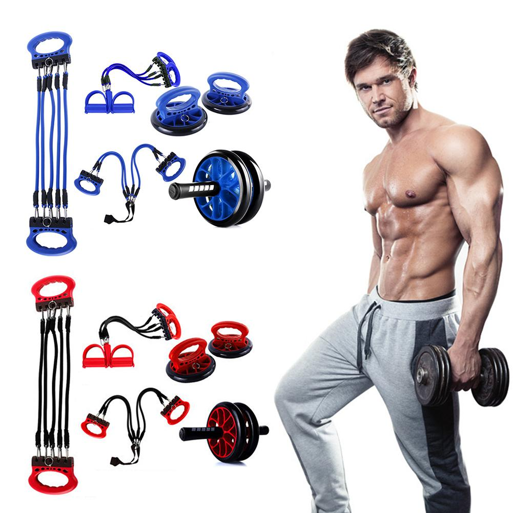 Chest Expander Springs Strength Resistance Band Power Twister Arm Bar Shoulder Heavy Duty Arms Exercises Upper Training 3 in 1 Arm Abdomen Expander Strength Trainer for Home Gym Workouts