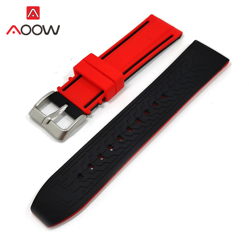 Soft Silicone Sport Watchband 20mm 22mm 24mm 26mm Rubber Diving Waterproof Men Replacement Bracelet Band Strap Watch Accessories