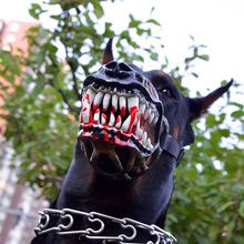 Muzzles Dog-Mask Spooky Creepy Waterproof for Halloween Zombie Pitbull Pup Safty Scary