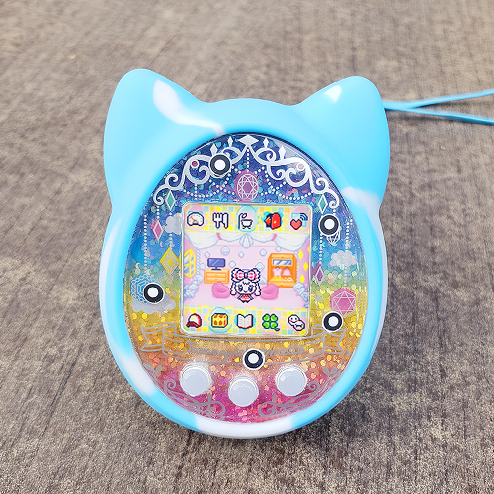 PS m!x iD L and Meets Protective Hard Case and Silicone Cover for Tamagotchi on Interactive Pet Game Machine only case Kids Toy Travel Case Storage and Cover Shell for Tamagotchi On 4U