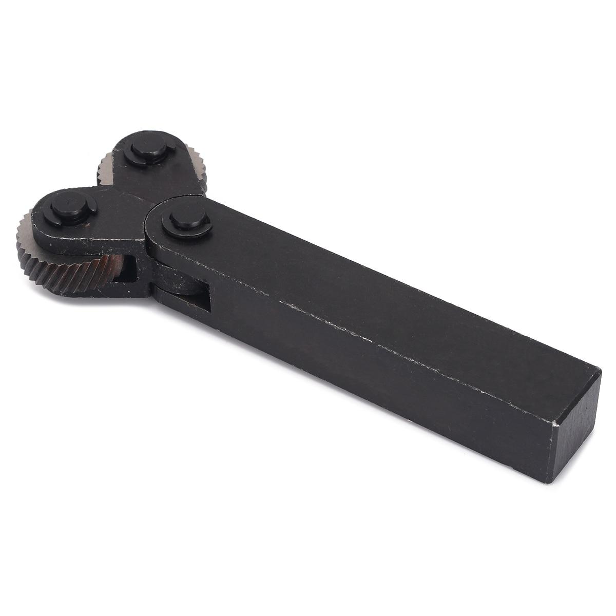 7Pcs Knurling Tool 0.5/1/2mm Diagonal Dual Wheel Linear Knurl Set Steel Lathe Cutter Wheel Knurling Tool Set