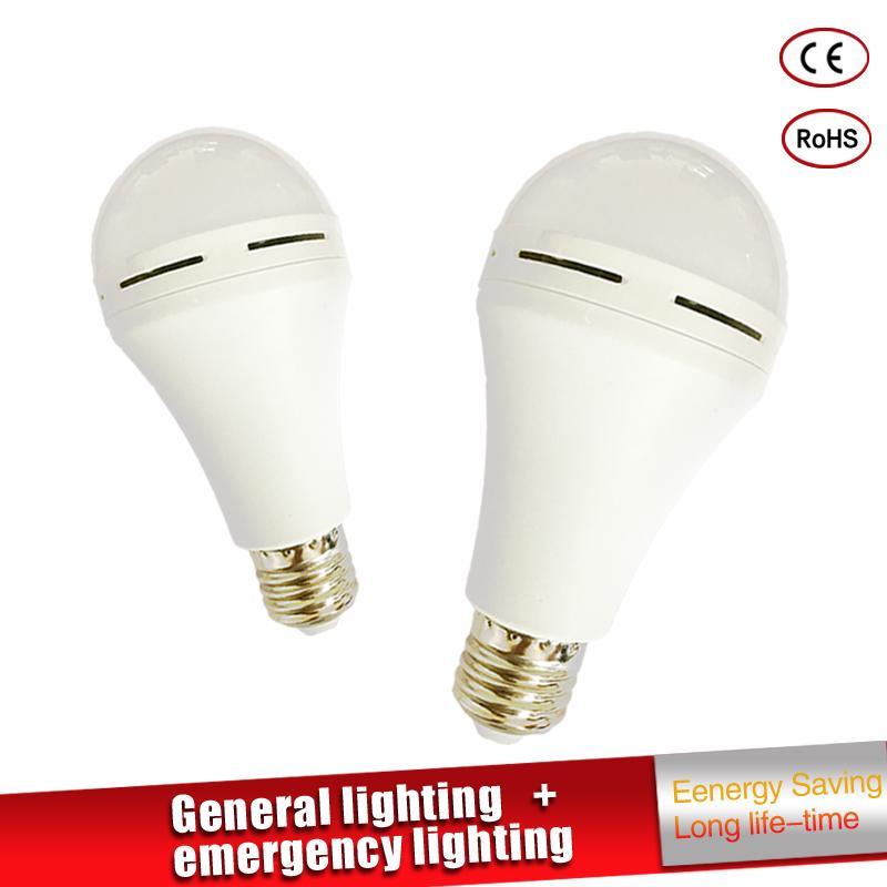 Smart LED Bulb E27 7W 9W Led Emergency Light 85-265v Rechargeable Battery Lighting Lamp Bombillas for Outdoor Lighting