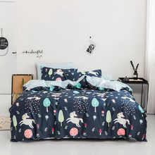 Home Textile 100% cotton plant bedding set cartoon bedding geometric Duvet Cover Set Bed Sheet quilt cover bedding(China)