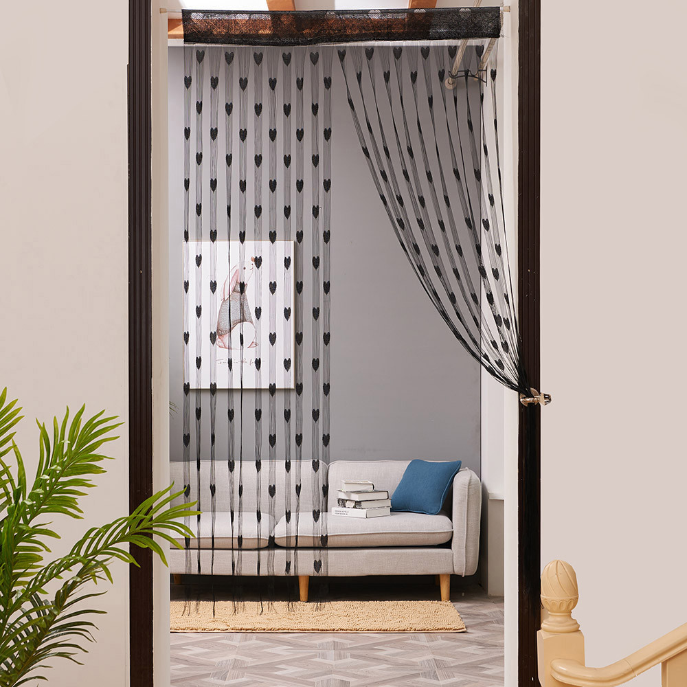 Curtain Valance Heart-String Cortinas Window-Door-Divider Love 50x200cm La-Sala--A Para title=