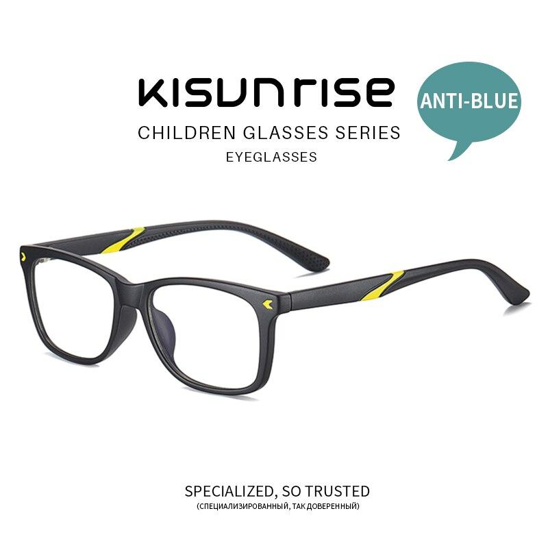 Kisunrise New Children Anti-blue Student TR Eyewear Girl Kids Eyeglasses Boy Fashion Frame Glasses KS131