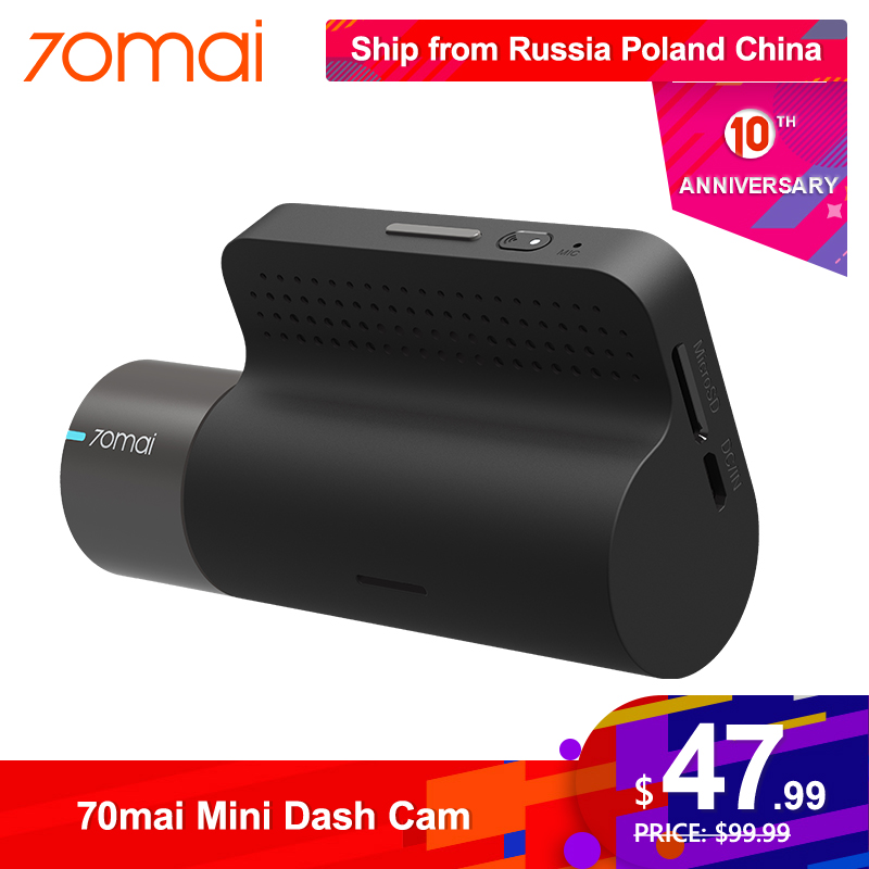 70mai DVR Camera Auto-Video-Recorder Dash-Cam App-Control Wifi Smart-Car Night-Vision title=