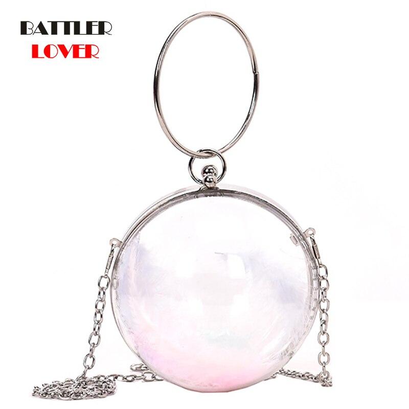 Clear Transparent PVC Shoulder Bags Women Jelly Bags Purse Solid Color Handbags Women