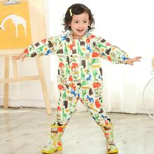 Jumpsuit Raincoat Waterproof Poncho Girls Durable Kids Cute Cartoon Universal Boys M/l-Size