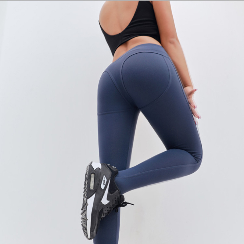 lady pants women tight stretch high waist belly peach hip pants running thin professional fitness pants summer leggings