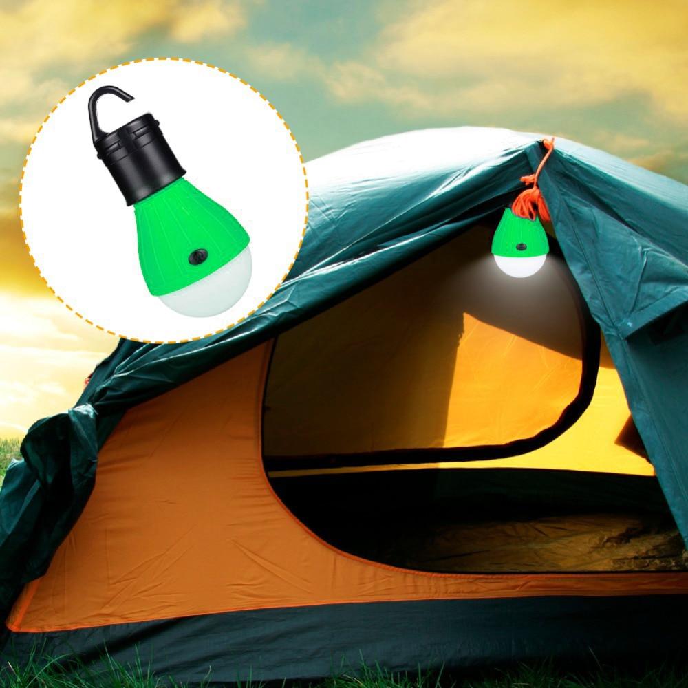 KKmoon 1 Pcs Mini Portable Lantern Tent Light LED Bulb Emergency Lamp Waterproof Hanging Hook Flashlight For Camping Red