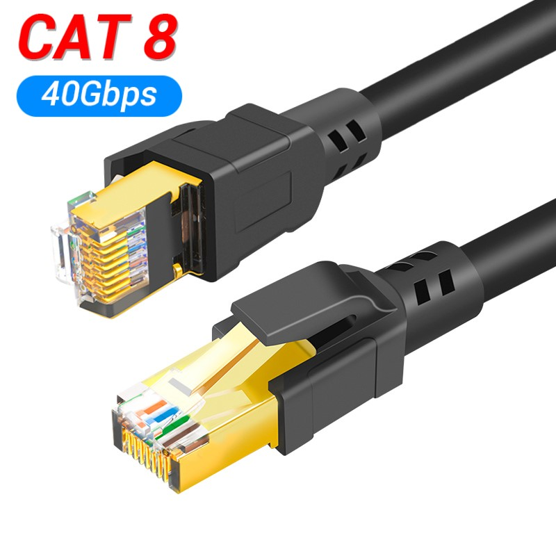 Cat8 Ethernet Cable RJ45 8P8C Network Cable 2000Mhz High Speed Patch 25/40Gbps Lan for Router Laptop 1m/2m/3m/5m/10m