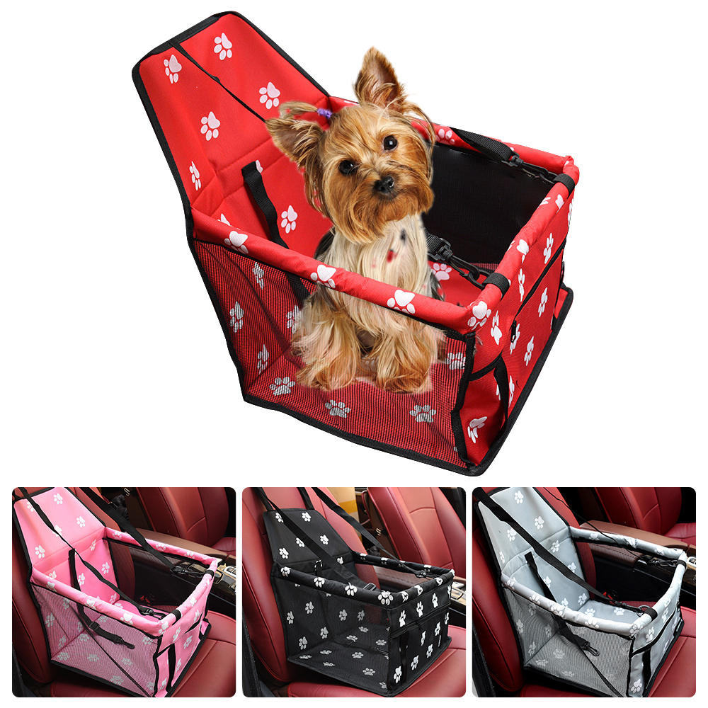 Travel Dog Car Carrier Seat Cover Folding Hammock Pet Carriers Bag Carrying For Dogs Cats Transportin Pet Basket Waterproof 15