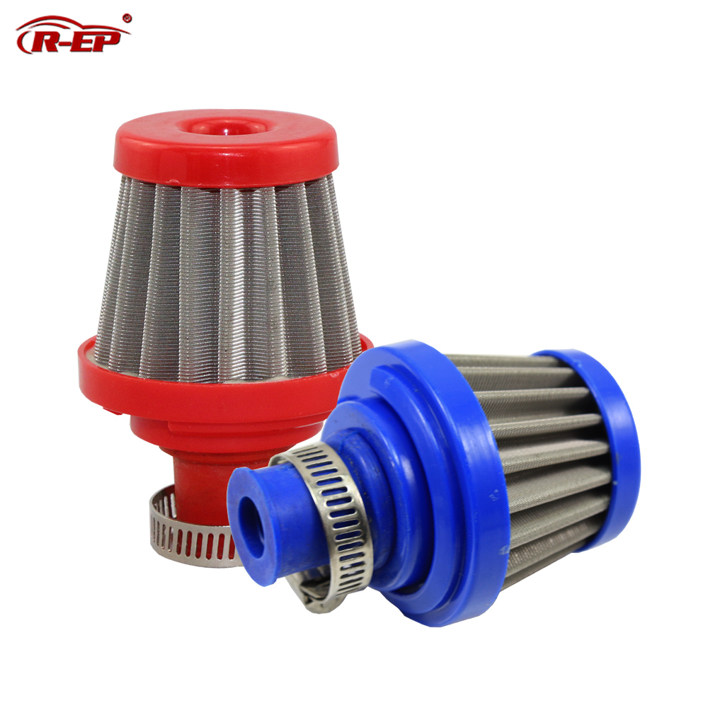 Universal 1.0/'/' 25mm Air Intake Filter Crankcase Breather Red//Blue//Black//Silver