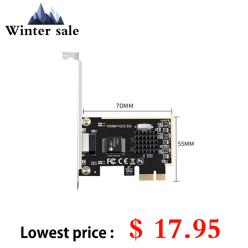 Pcie-Card Gigabit PCI-E RJ45 2500mbps Wired 10/100/1000mbps-rtl8125 Game title=