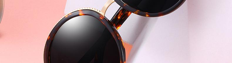 Women Sunglasses Frame Glasses Polariod Lens UV400 Polarized Sunglasses Women Fashion Round Frame Eyewear Glasses (3)
