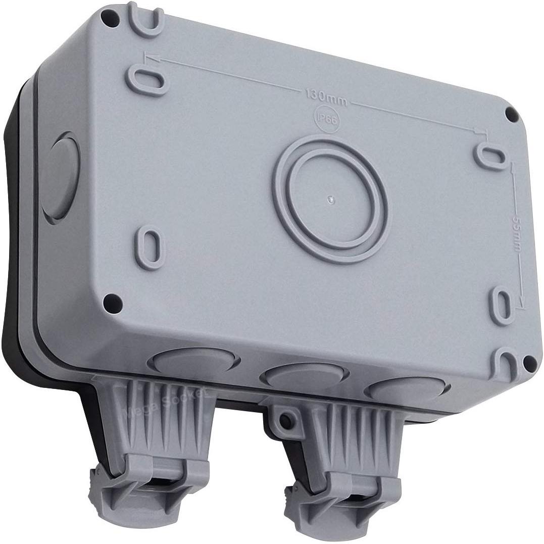 Waterproof Outdoor 13 A 2 Gang Storm Switched Socket double IP66 à l/'extérieur utiliser