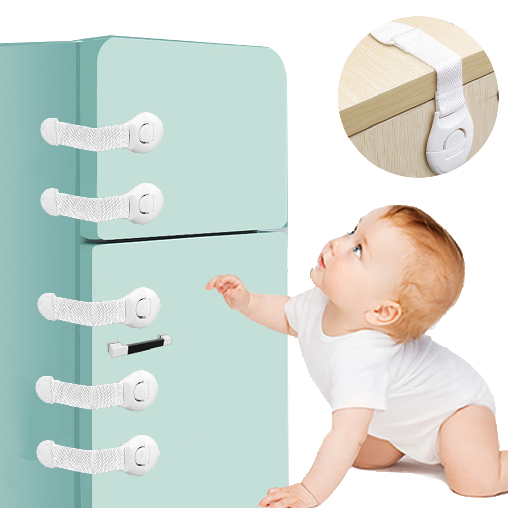 5/10pcs Baby Protection Lock Child Lock Protection Baby Safety Protection  From Children Safety Plastic Door Cabinet Fridge Lock|Cabinet Locks &  Straps| - AliExpress