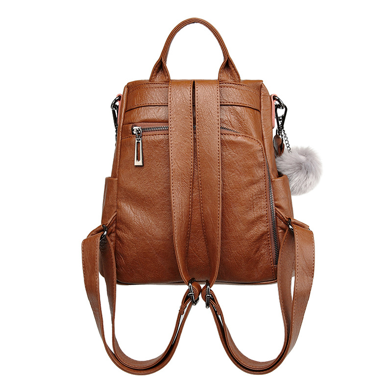 Women/'s Pu Backpack 2019 New Security Large Capacity Mother/'s Bag Leisure Travel Student Backpack