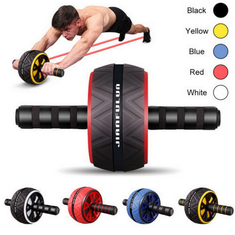 Person - Best Large Silent Abdominal Wheel Roller Trainer Fitness Equipment Gym Indoor Home Exercise Body Building ABS Roller