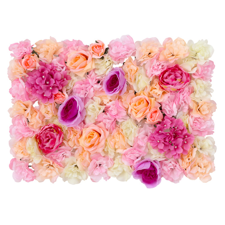 4 White Roses and Hydrangea Flowers Mat Wall Backdrop Panels Wedding Decorations