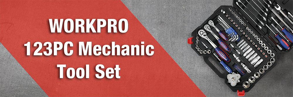 123PC New Mechanic Tool Set for Car Home Tool Kits