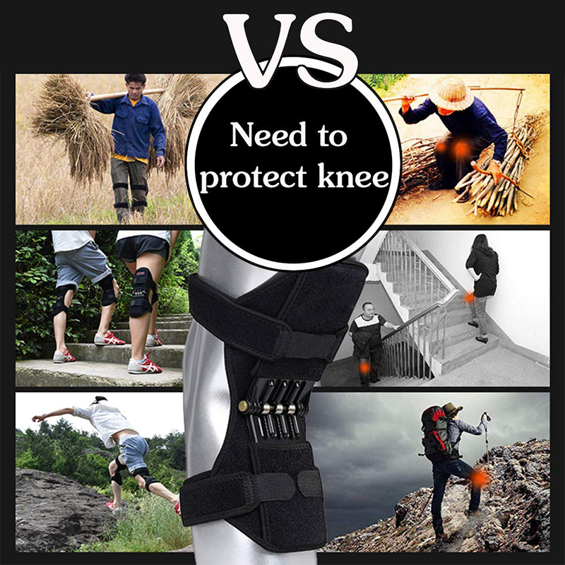 Knee Boost Joint Support Knee Pads Knee Patella Strap Power Lifts Spring Force Knee Protection Powerful Support Powerlifts