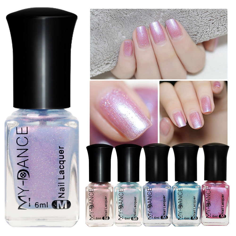 MYDACNE Matte Dull Nail Polish 6ml Lacquer Varnish Matt Effect Manicure Nail Art Color Polish Satin Frosted Bottle Nail Gel