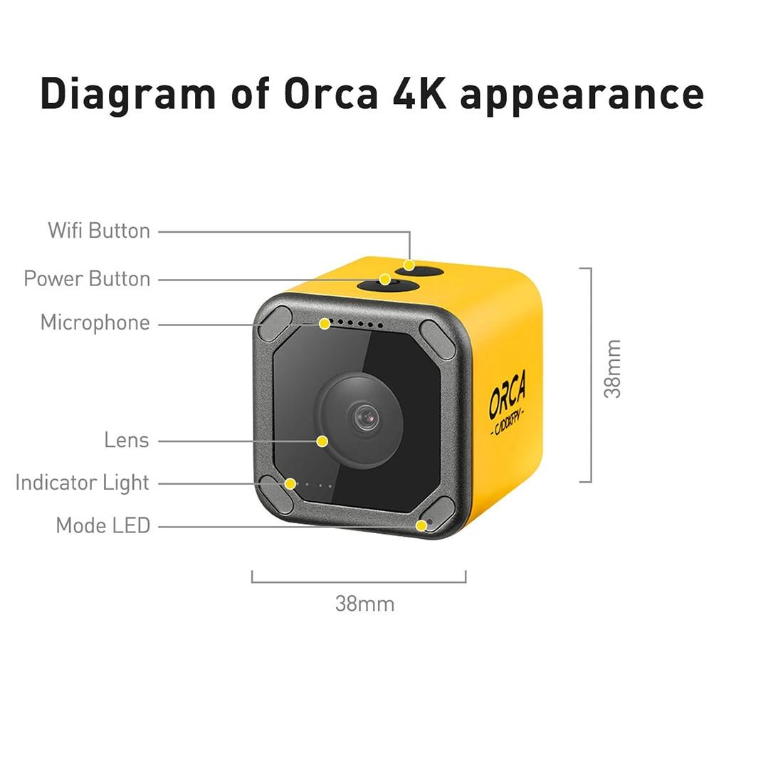 Caddx Orca 4K HD Recording FPV Camera WiFi Anti-Shake DVR Action Sport Camera