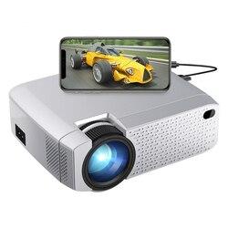 Aon светодиодный мини-проектор D40W, видеопроектор для домашнего кинотеатра. 1600 люмен, поддержка HD, беспроводной синхронизация дисплея для iPhone/...