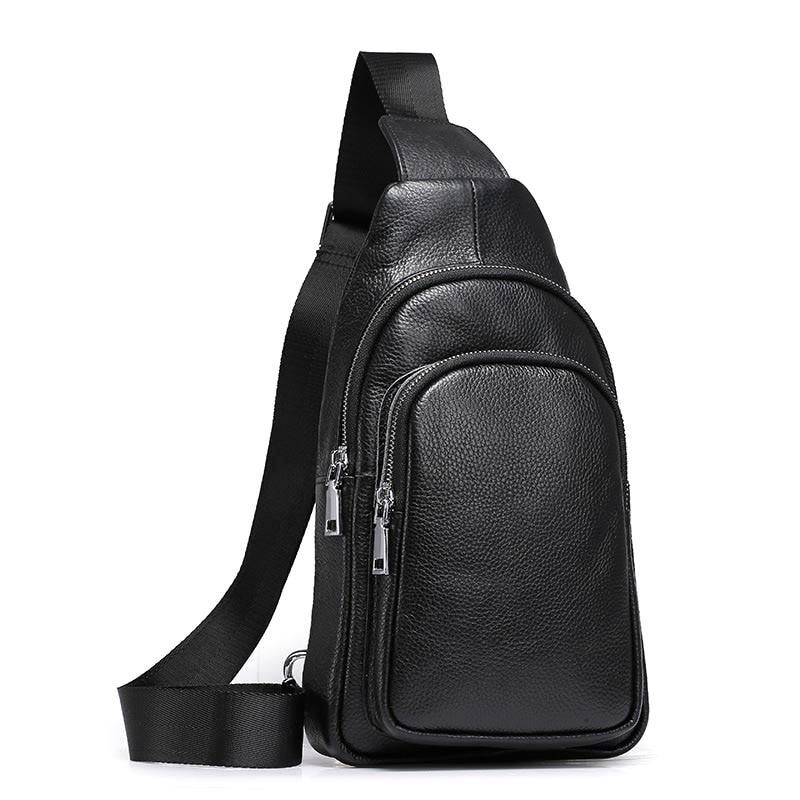 Мужская сумка-Кроссбоди LUENSRO, повседневная Наплечная Сумка из натуральной яловой кожи, 2019
