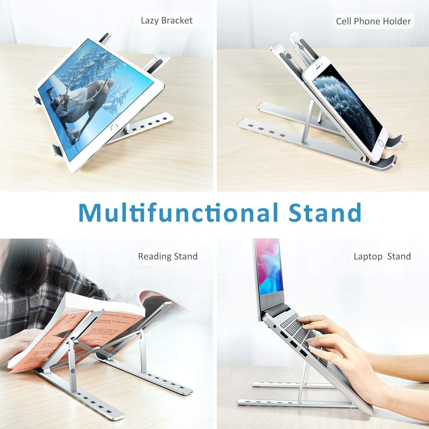 Portable Laptop Stand Aluminium Foldable Macbook Pro Support Adjustable Notebook Holder Tablet Base For PC Computer Bracket