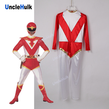 Choujin Sentai Jetman Red Hawk Satin Fabric Cosplay Costume - with shawl | UncleHulk