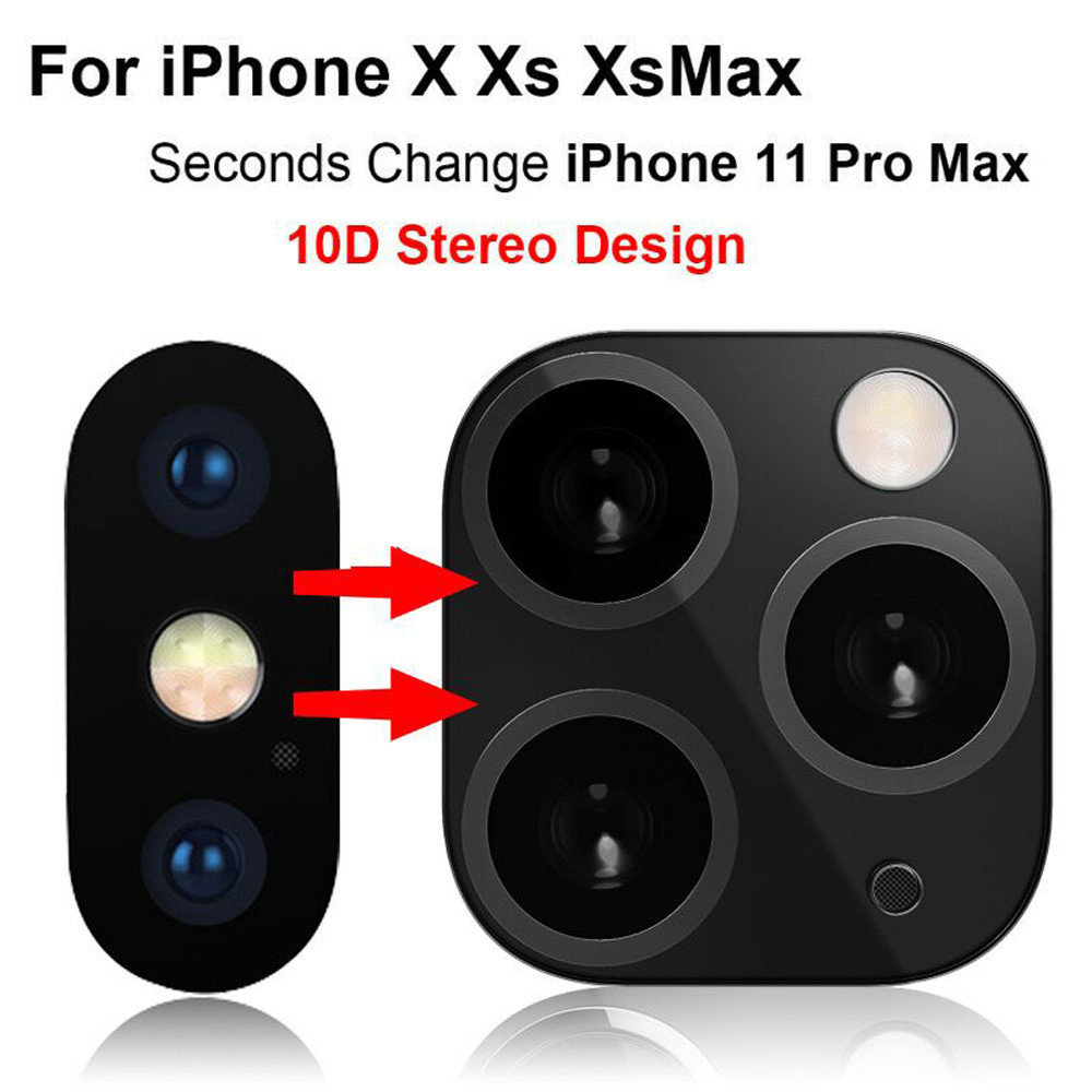 For iPhone X XS MAX Seconds Change For iPhone 11 Camera Lens Screen Protector Second generation lens film metal lens sticker #B