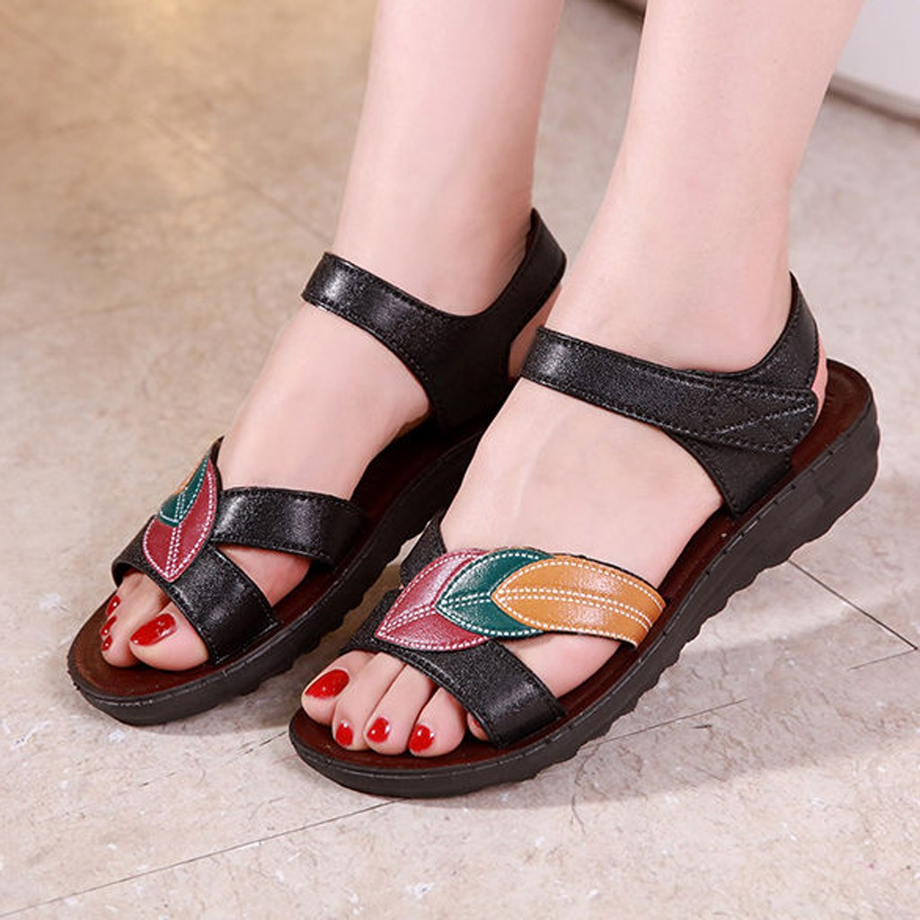 Platform Sandals Wedges-Shoes Black Peep-Toe Casual Woman Summer New-Fashion Plus 41 title=