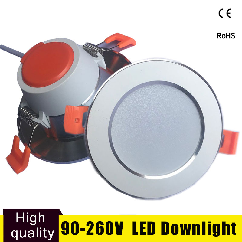 LED Downlight Lamparas de Techo Led 3W 5W 9W 12W 15W 220V 230V 240V LED Light Bedroom Kitchen Indoor Led Spot Lighting