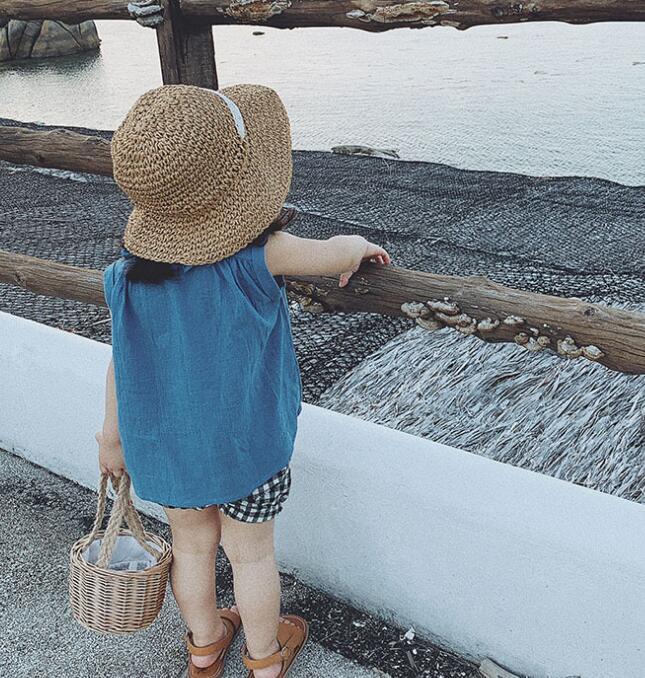 2020 New Girls  Shirt Sleeveless  Summer  Cotton  Fashion Girls Blouse 2-7t QA664