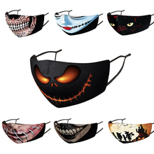 Mouth-Masks Cosplay Easter Face Halloween Adult Tooth Dark Skull Scary Night-Beast Pumkin