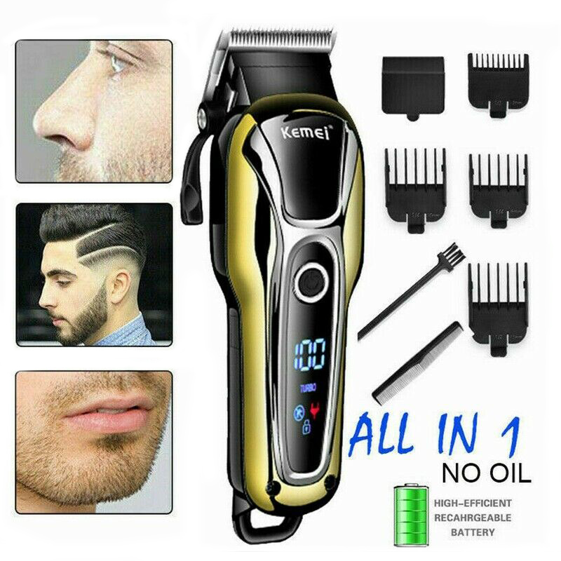 Human - Kemei Rechargeable Hair Trimmer Professional Hair Clipper Hair Shaving Machine Hair Cutting Beard Electric Razor