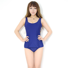 School Swimsuit Sukumizu One-Pieces Japanese Women Costum Sexy Cartoon Zipper Front-Skirt